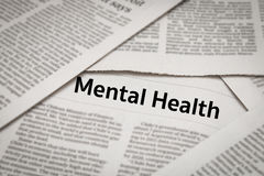 Mental health. Headline on newspaper Royalty Free Stock Image