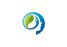 Mental Health logo. Psychology Concept Design Stock Photos