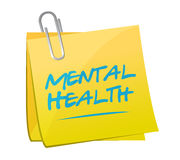 Mental health memo post illustration design. Over a white background Royalty Free Stock Photo