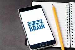 Mental health and mobile phone addiction concept stock photos