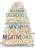 Mental Health In Negative Environments Text Background Word Cloud Concept Stock Images