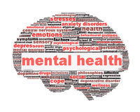 Mental health symbol conceptual design Stock Photography