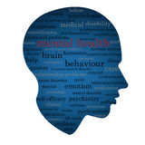 Mental health word concept Royalty Free Stock Photo