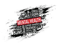 Mental health words background. A mental health words background vector illustration