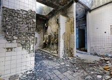 Mental Hospital Bathroom. Building inside stock images