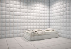 Mental hospital padded room Royalty Free Stock Image