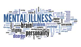 Free Mental Illness Text Royalty Free Stock Photography - 172120137