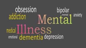 Mental Illness, word cloud concept on dark background
