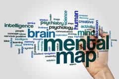 Mental map word cloud Stock Image