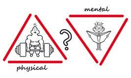 Mental ou físico Foto de Stock