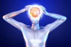 Mental Power. And creativity. 3d rendered Illustration Stock Photography