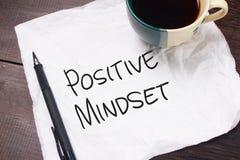 Mentalité positive, concept de motivation de citations de mots image libre de droits