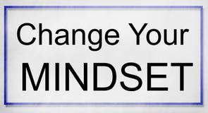 Mentalité vis-à-vis de concept de pensée de négativité de positivité Image libre de droits