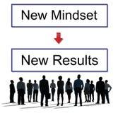 Mentalité vis-à-vis de concept de pensée de négativité de positivité Photos libres de droits
