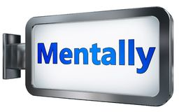 Mentally on billboard royalty free illustration