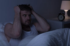 Mentally ill man at night Royalty Free Stock Photo