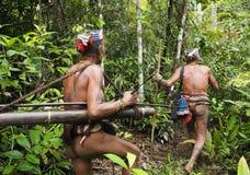 Free Mentawai Siberut Shamans Trekking Jungle Traditional Tribe Stock Photography - 117373722