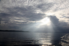 Mentawai stormy skies Royalty Free Stock Image