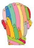 Mente colorida Imagens de Stock Royalty Free