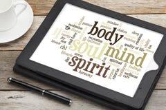 Mente, corpo, espírito e alma imagens de stock royalty free