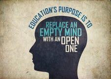 Mente creativa de la educación Imagen de archivo libre de regalías
