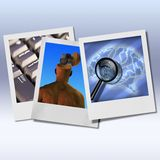 Mente de Digitas Fotografia de Stock