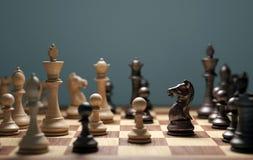 Mente de la estrategia del juego de ajedrez que gana imagen de archivo
