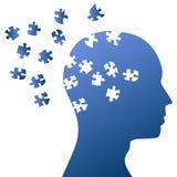 Mente del rompecabezas y asalto del cerebro Imagen de archivo libre de regalías