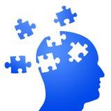 Mente do enigma e ataque do cérebro ilustração stock