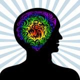 Mente humana Imagen de archivo libre de regalías