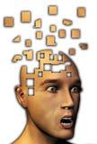 Mente ida a los dígitos binarios Foto de archivo