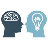 Mente, inteligencia artificial y propiedad intelectual Ilustración del Vector