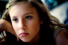 Mente preocupada adolescente Fotografía de archivo libre de regalías