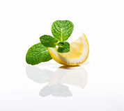 Menthe et citron photo stock