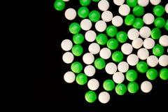 Menthes vertes et de blanc Photographie stock libre de droits
