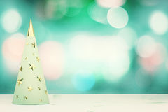 Menthol christmas tree with golden studs Royalty Free Stock Photo