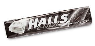 Mentholated cough drop Halls Cool Royalty Free Stock Image