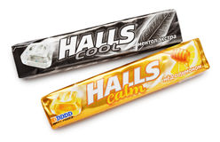 Mentholated cough drop Halls Royalty Free Stock Photography