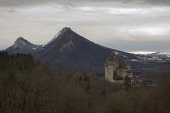 Menthon Άγιος Bernard Castle κοντά στο Annecy, Γαλλία Στοκ Εικόνες