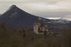 Menthon helgon Bernard Castle nära Annecy, Frankrike Royaltyfria Bilder