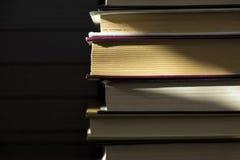 Mentira de los libros en uno a Foto de archivo libre de regalías