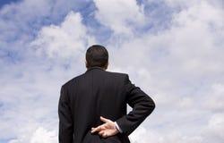 Mentira del hombre de negocios Foto de archivo libre de regalías