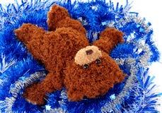 Mentira del oso de peluche del juguete Fotos de archivo