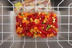 Mentira dos vegetais no congelador Imagens de Stock