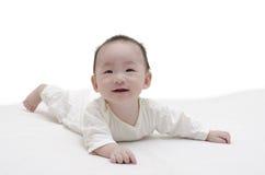 Mentira linda del bebé Fotografía de archivo libre de regalías