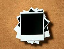 Mentira polaroid de los marcos de la vendimia Imagen de archivo libre de regalías