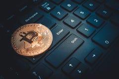Mentiras criptos do bitcoin da moeda da moeda Imagem de Stock Royalty Free