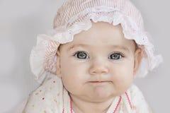 Mentiras felices lindas del bebé Fotos de archivo