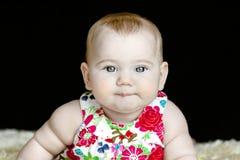 Mentiras felizes bonitos do bebê Fotografia de Stock