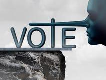 Mentiroso del voto Imagenes de archivo